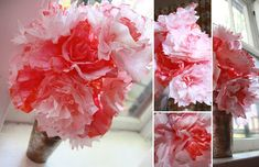 Friday Flowers: Coffee Filter Bouquet - ALSO THE RECIPE on HOW TO DYE the COFFEE FILTER'S
