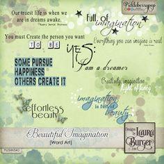 Beautiful Imagination Word Art