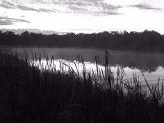 Sunrise in black and white, Pretty Water Lake, Sapulpa, Oklahoma