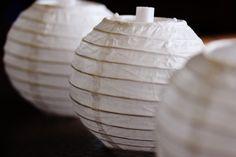 10 Paper Lanterns  Wedding Decor DIY by thelittlebundle on Etsy, $19.00