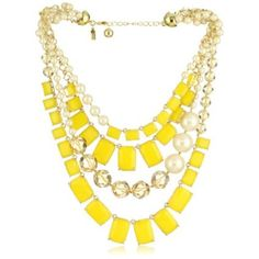 Love this yellow statement necklace. #summer #jewels