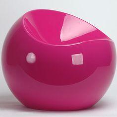 Pouf design en plastique recyclable Ball Chair XL Boom : Decoclico