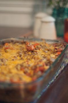 Cheesy Baked Lentils :: How To Jazz Up a Boring Legume - Cheeky Bums Blog