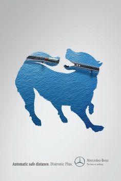 Campaña colombiana ganadora en Cannes Lions 2013. DOG DE OGILVY PARA MERCEDES BENZ (BRONCE EN OUTDOOR)