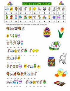 EASTER CRYPTOGRAM Language: English Grade/level: Grade 3 School subject: English as a Second Language (ESL) Main content: Easter Other contents: