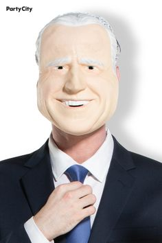 Channel a former vice president and presidential candidate with this latex mask. The mask features realistic detailing and sculpting, so don't be surprised if parents ask you to kiss their baby! It easily comes on and off by the attached elastic band. Vice President, Presidential Candidates, Linux, Sculpting, Presidents, Halloween Costumes, Parents, Kiss, Channel
