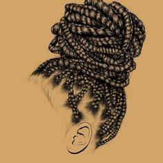 To Make Your Hair Grow Fast Even If It is Damaged Black Culture Is So Doggone Beautiful!)Black Culture Is So Doggone Beautiful! Black Girl Art, Black Women Art, Black Girl Magic, Art Girl, Black Girl Style, Black Girls, African American Art, African Art, Natural Hair Art