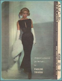 McCalls 4258 - Vintage Sewing Pattern - Pauline Trigere - Size 14 - Bust 34 - Misses' Evening Formal Gown Dress Mode Vintage, Vintage Vogue, Vintage Fashion, Classic Fashion, Vintage Beauty, Classic Style, High Fashion, Vestidos Vintage, Vintage Dresses