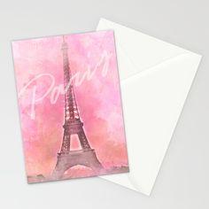 Paris City - Eiffel Tower Stationery Cards by Pentagonixmedia | Society6
