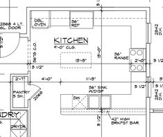 Kitchen Layout pretty good kitchen layout includes pantry, laundry and dining