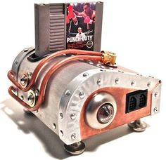 """""""Redditor Andrew5785 refurbed an elderly Nintendo system for a covetous steampunk nephew, turning it into a sweet little contrafactual brass retrofuture contraption."""""""