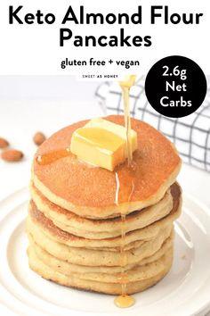Almond Flour Pancakes, Almond Flour Cookies, Low Carb Pancakes, Almond Flour Recipes, Low Carb Breakfast, Keto Cookies, Breakfast Recipes, Pancakes Easy, Fluffy Pancakes