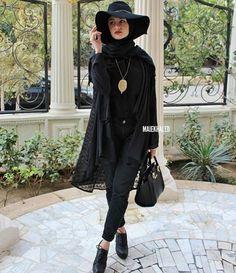 #hijab #fashion #black #hat