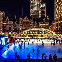 Our beautiful City Hall skating rink at night #toronto #igerstoronto #blogto #hypeoftoronto #toronto_insta #skating #cityhall #night #wilsonhophotography #ricohgr #explorecanada / www.wilsonhophotography.com Skating Rink, Street Photography, Toronto, Times Square, Night, City, Instagram Posts, Travel, Beautiful