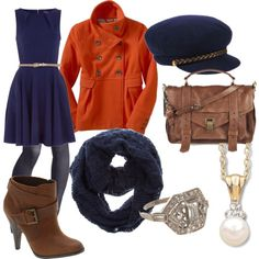 navy with a hint of orange <3