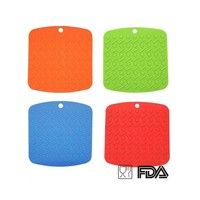 Home & Kitchen Tool Silicone Pot Holder Square trivet Mat heat Resistant Hot Pads