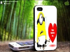 Funny Minion Valentine Propose Design For iPhone 5 / by SidePucket, $14.89
