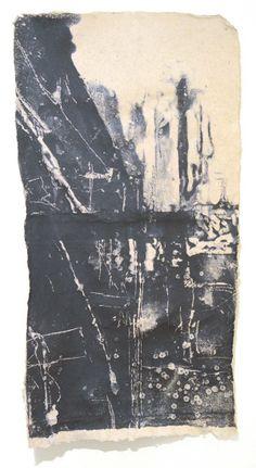 May Babcock - papermaking  artist - pulp painting