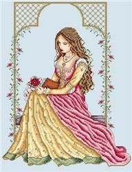 Italian Lady cross stitch pattern by Shannon Wasilieff Stitch count: by Uses DMC, Kreinik and Mill Hill beads. Cross Stitching, Cross Stitch Embroidery, Embroidery Patterns, Cross Stitch Patterns, Floral Embroidery, Italian Women, Italian Lady, Renaissance Fashion, Italian Renaissance