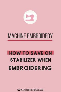 Paper Embroidery Patterns Machine Embroidery Tip - how to save on stabilizer. In this post, I share a nifty trick I once learned in an embroidery class. Paper Embroidery, Learn Embroidery, Crewel Embroidery, Brother Embroidery, Mexican Embroidery, Embroidery Hoops, Embroidery Monogram, Embroidery Jewelry, Modern Embroidery