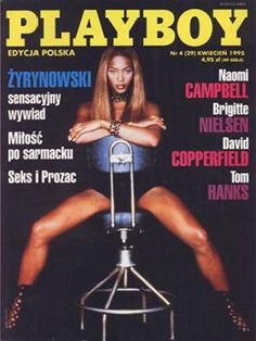 Playboy (Poland) April 1995  with Naomi Campbell on the cover of the magazine