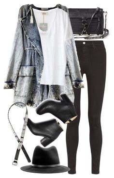 """""""Untitled #7592"""" by nikka-phillips ❤ liked on Polyvore featuring AG Adriano Goldschmied, Rebecca Minkoff, American Vintage, Paul Andrew, H&M and rag & bone"""