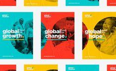 campaign design Global Fund for Children: Branding by Belen Ramos - Inspiration Grid Web Design, Grid Design, Layout Design, Logo Design, Identity Design, Typography Design, Charity Branding, Event Branding, Corporate Branding
