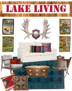 Lake House Living Room Inspiration