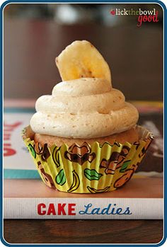 Peanut butter and banana cupcake.....sounds like elvis' dream cupcake....cant wait to try it