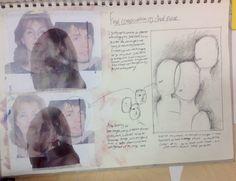 Final outcome composition ideas, unit 4, CNC Sketchbook Pages, Sketchbook Inspiration, Sketchbooks, Layouts, Composition, Presentation, Students, Design Ideas, Fine Art