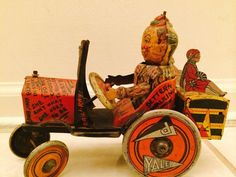 Rare Antique: Louis Marx Toy Wind-up College Whoopee Car #Marx