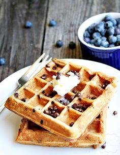 S'more Waffles made with Greek Yogurt