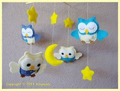 making my own mobile going to use butterfly's and owls and such