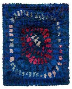 """""""Midsommar"""". Rya. 159 x 125 cm. Viola Gråsten, NK Textilkammare."""