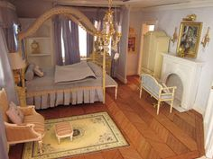 La Grande Maison-The Greenleaf Garfield Dollhouse: A Master Bedroom of French Blues