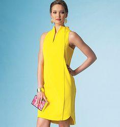 Vogue Patterns 1445 Misses' Dress sewing pattern Simple Dresses, Nice Dresses, Summer Dresses, Vogue Sewing Patterns, Miss Dress, Necklines For Dresses, Yellow Fashion, Yellow Dress, Dress Patterns