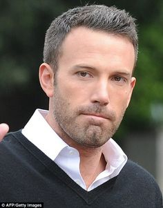 Gray Hairstyles for Older Men   Ageing: Ben Affleck showed off his newly greying hair as he arrived by ...