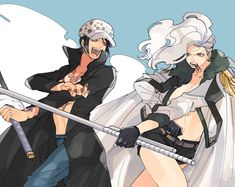 Genderbend switch swap female fem Trafalgar D. Water Law and Smoker One piece