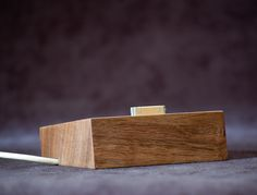 Wood iPhone 4 Dock, Stand, Charging Station  - Walnut - ON SALE. $35.00, via Etsy.