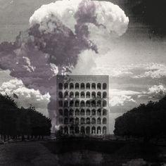 """""""Istanti oltre la barbarie"""" 002 collezione """"Futuro prossimo"""" Carlalberto Amadori, architectural drawing collage 2016"""