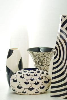 Ceramica maiolca bianco e nero