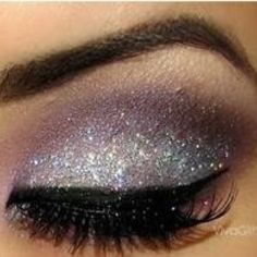 Glitter eyeshadow. Oh yes!! This is for YOU Rachel. Lol