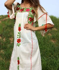 Beautiful Frida Gauzy Cotton Mexican Wedding Dress Circa by Vdingy
