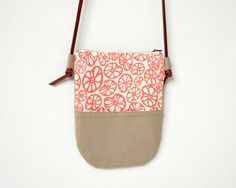 Pocket Purse  Cross Body Purse with Screen Print by ClothandINK