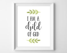 Child of God Wall Art, Baptism Gift, I am a Child of God Print, Christian Wall Art, Bible Verse Prin Baptism Quotes Bible, Baptism Verses, Mormon Baptism, Baby Baptism, Baptism Party, Baptism Gifts, Lds Baptism Ideas, Bible Quotes, Christening