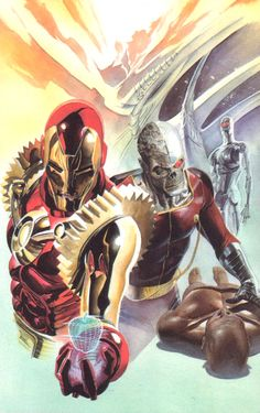 Iron Man & Deathlok by Alex Ross