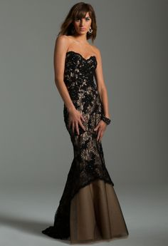 Lace Beaded Kick Out Gown from Camille La Vie and Group USA