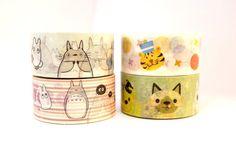 TOTORO 10m high quality WASHI tape CARTOON cat by MyChildhoodDream