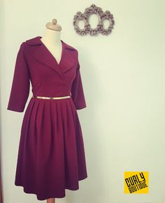 Curly Boutique  Dress marsala Marsala, Boutique Dresses, Curly, Gowns, Marsala Wine