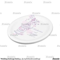 Wedding birdcage birds pink custom paper plate  sc 1 st  Pinterest & Get the party started with our custom patterned paper plate ...
